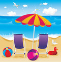 Beach summer holidays  Stock Images