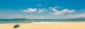 Beach in the sun Royalty Free Stock Photo