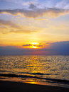 Beach Sunset Royalty Free Stock Photo