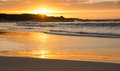 Beach sunset near cape town south africa Royalty Free Stock Image