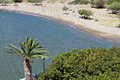Beach at syros island in greece galissas bay Stock Photography