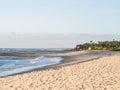 Beach in tanzania kutani dar es salaam at sunset Royalty Free Stock Photo