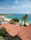 A beach in tarragona spain aerial view of Stock Photography