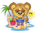 Beach Teddy Bear Stock Image
