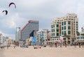 Beach of Tel Aviv Royalty Free Stock Photo