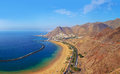 Beach Teresitas in Tenerife - Canary Islands Royalty Free Stock Photography