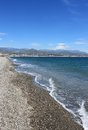 Beach torre del mar sandy of on the costa sol andalucia spain Stock Photo