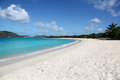 Beach in Tortola, BVI Royalty Free Stock Photo
