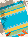 Beach towel Stock Images