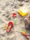 Beach toys on sand Royalty Free Stock Photo