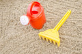 Beach toys on sand children Royalty Free Stock Photos