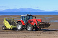 Beach cleaner tractor Royalty Free Stock Photo