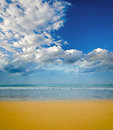 Beach on a tropical island Stock Image