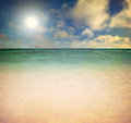 Beach and tropical sea nice Royalty Free Stock Image