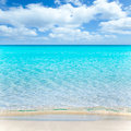 Beach tropical with white sand and turquoise wate Stock Images