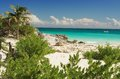 Beach tulum quintana roo mexico Royalty Free Stock Images