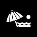 Beach umbrella icon. Beach and vacation icon vector illustration