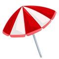 Beach umbrella isolated illustration Royalty Free Stock Photo