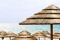 Beach umbrella in italy photo Royalty Free Stock Photography
