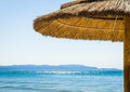 Beach umbrella in italy photo Stock Images