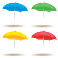 Beach umbrella solid a collection of umbrellas in colors Stock Images