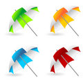 Beach umbrellas Stock Images
