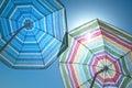 Beach Umbrellas On A Blue Sky Royalty Free Stock Photo
