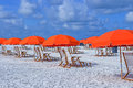 Beach umbrellas Royalty Free Stock Photo