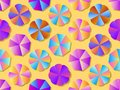 Beach umbrellas seamless pattern with colorful gradient. Summer background. Vector