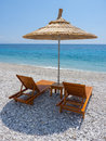 Beach urban in himare albania Stock Image