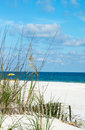 Beach view a of the on the alabama gulf coast Royalty Free Stock Photo