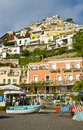 Beach View, Positano, Amalfi Coast,  Italy Royalty Free Stock Photography