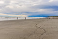 Beach view at Sunset in Hokitika, New Zealand Royalty Free Stock Photo