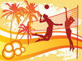 Beach volley Stock Images