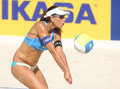 Beach Volley player Ana Paula Connelly Royalty Free Stock Photo