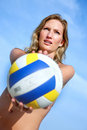 Beach volleyball player Royalty Free Stock Photos