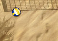 Beach volleyball on sand Stock Photography
