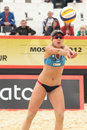 Beach Volleyball Swatch World Tour, Moscow Stock Photography
