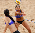 Beach Volleyball Woman Mexico Pass Ball Stock Image