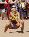 Beach Volleyball Woman Russia Ball Royalty Free Stock Photography