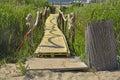 Beach Walkway Near Blace Royalty Free Stock Photo