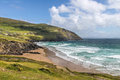 Beach and waves at slea head iveragh peninsula county kerry ireland Royalty Free Stock Photos
