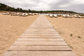 Beach way to bassa beach in ibiza balearic islands Royalty Free Stock Image