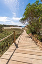 Beach way to saona beach in formentera balearic islands Stock Image