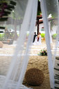 Beach wedding bride and groom at a daytime on the in thailand Royalty Free Stock Image