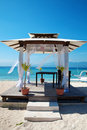 Beach weddings pavilion in Gili islands Stock Images