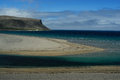 Beach in westfjord iceland of sand near patreksfjordur northwest of Royalty Free Stock Photos