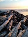 Beach Wood Mountain Royalty Free Stock Photo