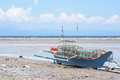 Beached fishing vessel in the philippines at general santos city southernmost city of Stock Image