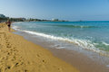 The beaches on the coastline avsallar turkey june anatolian coast a popular holiday destination in summer of european citizens Royalty Free Stock Photography